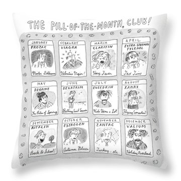New Yorker June 8th, 1998 Throw Pillow