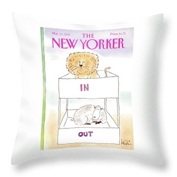New Yorker March 11th, 1991 Throw Pillow
