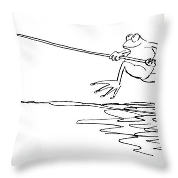 New Yorker March 12th, 1990 Throw Pillow