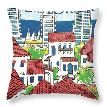 New Yorker March 14th, 1988 Throw Pillow