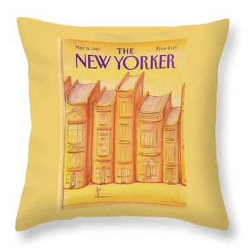 New Yorker March 15th, 1982 Throw Pillow