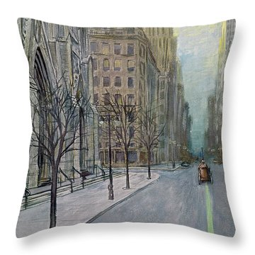 New Yorker March 16th, 1957 Throw Pillow