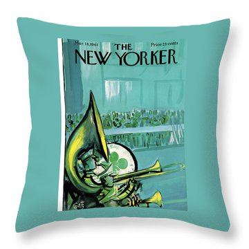 New Yorker March 18th, 1961 Throw Pillow