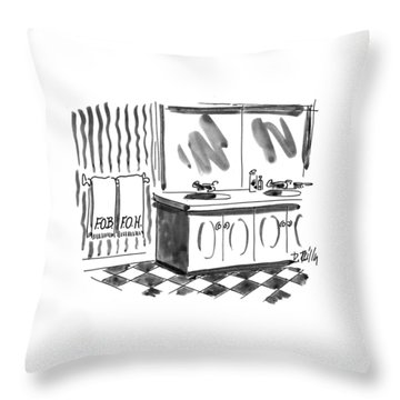 New Yorker March 1st, 1993 Throw Pillow by Donald Reilly