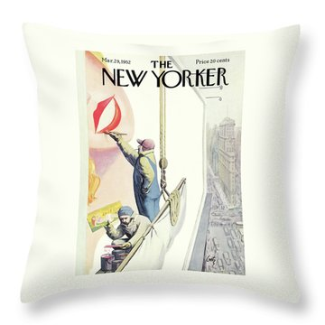 New Yorker March 29th, 1952 Throw Pillow