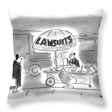 New Yorker March 29th, 1993 Throw Pillow