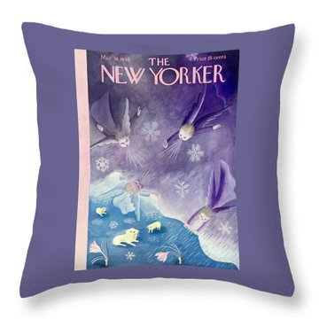 New Yorker March 30 1940 Throw Pillow