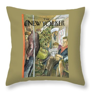 New Yorker March 3rd, 2003 Throw Pillow
