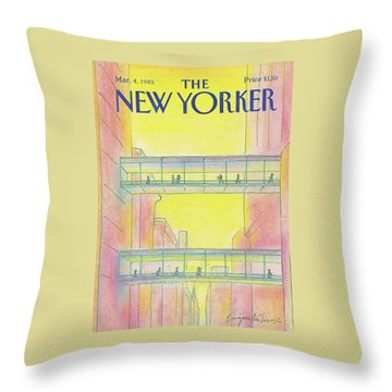New Yorker March 4th, 1985 Throw Pillow