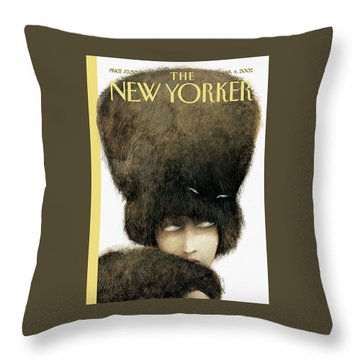 New Yorker March 4th, 2002 Throw Pillow
