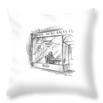 New Yorker March 7th, 1942 Throw Pillow