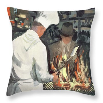 New Yorker March 7th, 1959 Throw Pillow