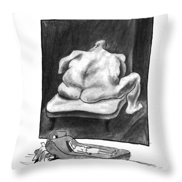 New Yorker March 7th, 1994 Throw Pillow