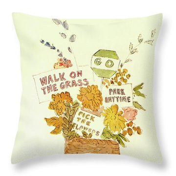 New Yorker May 10th, 1969 Throw Pillow