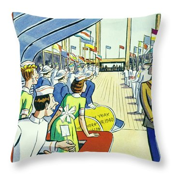 New Yorker May 11 1940 Throw Pillow