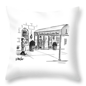 New Yorker May 13th, 1996 Throw Pillow