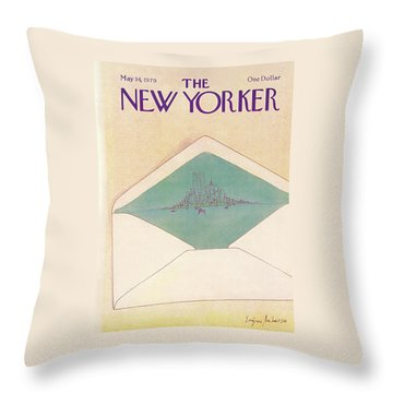 New Yorker May 14th, 1979 Throw Pillow