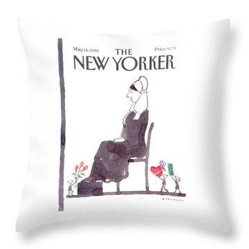 New Yorker May 14th, 1990 Throw Pillow