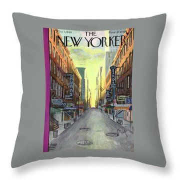 New Yorker May 1st, 1948 Throw Pillow