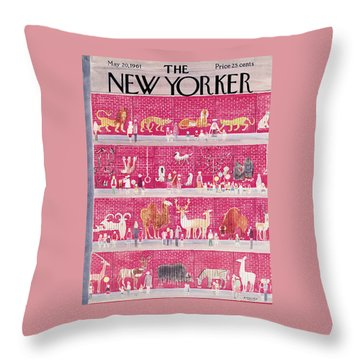 New Yorker May 20th, 1961 Throw Pillow
