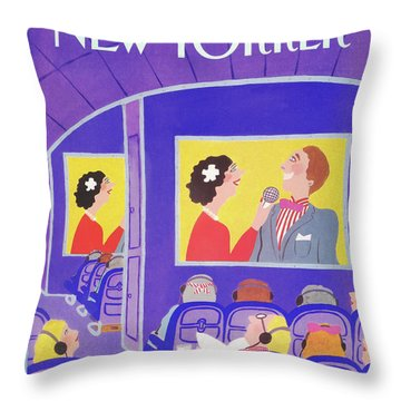 New Yorker May 20th, 1991 Throw Pillow