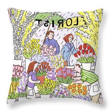 New Yorker May 28th, 1990 Throw Pillow