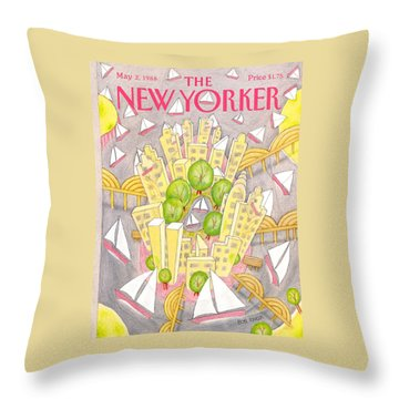 New Yorker May 2nd, 1988 Throw Pillow