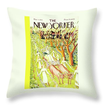 New Yorker May 4 1935 Throw Pillow