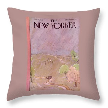 New Yorker May 6th, 1933 Throw Pillow