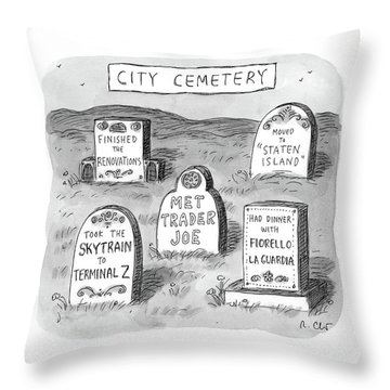 New Yorker May 8th, 2017 Throw Pillow