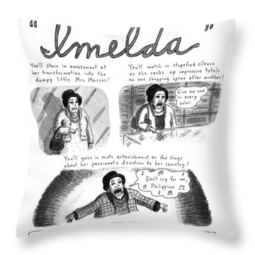 New Yorker November 11th, 1996 Throw Pillow