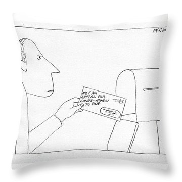 New Yorker November 12th, 1973 Throw Pillow