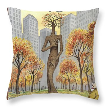 New Yorker November 19th, 2001 Throw Pillow