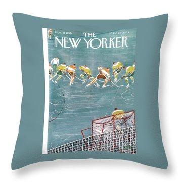 New Yorker November 21st, 1959 Throw Pillow