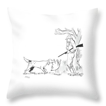 New Yorker November 23rd, 1940 Throw Pillow by Carl Rose