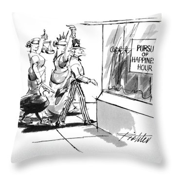 New Yorker November 28th, 1994 Throw Pillow