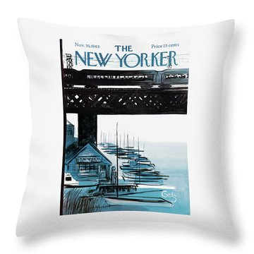 New Yorker November 30th, 1963 Throw Pillow