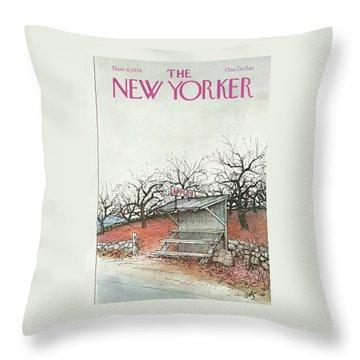 New Yorker November 6th, 1978 Throw Pillow