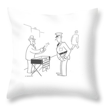 New Yorker November 9th, 1940 Throw Pillow by Otto Soglow