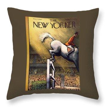 New Yorker November 9th, 1957 Throw Pillow