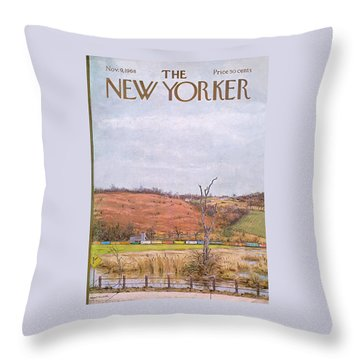New Yorker November 9th, 1968 Throw Pillow