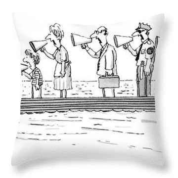 New Yorker October 10th, 1983 Throw Pillow