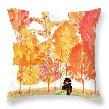 New Yorker October 14th, 1972 Throw Pillow