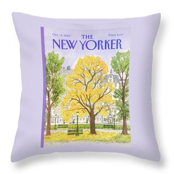 New Yorker October 14th, 1985 Throw Pillow