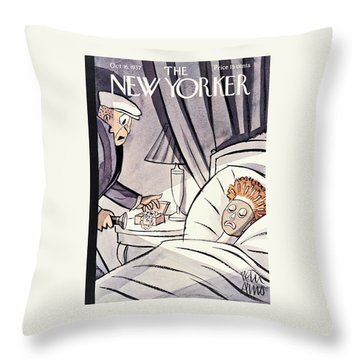 New Yorker October 16th 1937 Throw Pillow