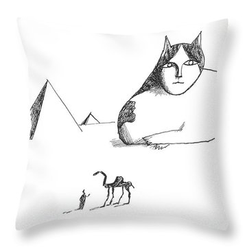 New Yorker October 17th, 1964 Throw Pillow by Saul Steinberg