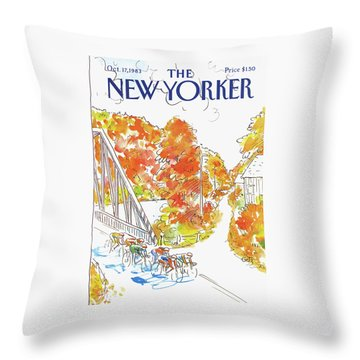 New Yorker October 17th, 1983 Throw Pillow