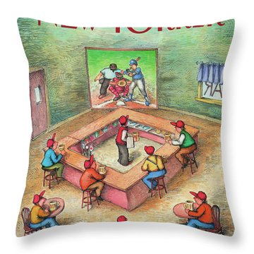 New Yorker October 19th, 1987 Throw Pillow