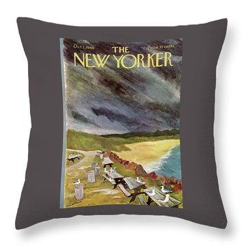 New Yorker October 1st, 1966 Throw Pillow