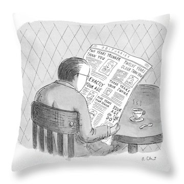 New Yorker October 25th, 1993 Throw Pillow